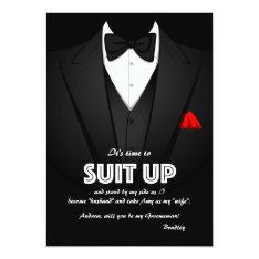 Suit Up Groomsman Request Card 13 Cm X 18 Cm Invitation Card at Zazzle