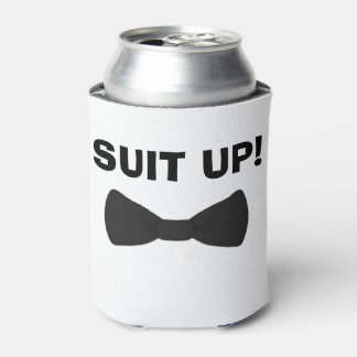 Suit up wedding party can coolers custom wedding