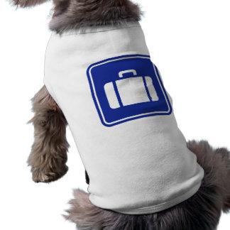 Suitcase icon sleeveless dog shirt
