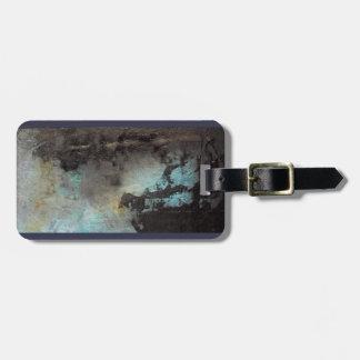 Suitcase tag, luggage tag, storm, grey, black, blu luggage tag