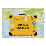 Suitcase World Travel Themed Thank You