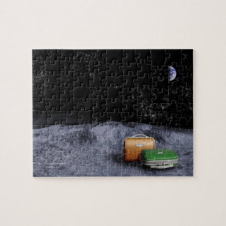Suitcases on the Moon Jigsaw Puzzle