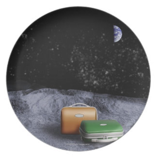 Suitcases on the Moon Plate