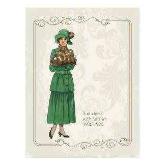 Suite Dress Postcard