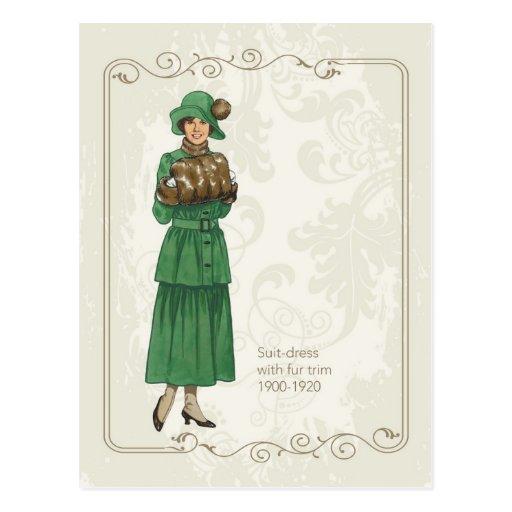 Suite Dress Post Cards