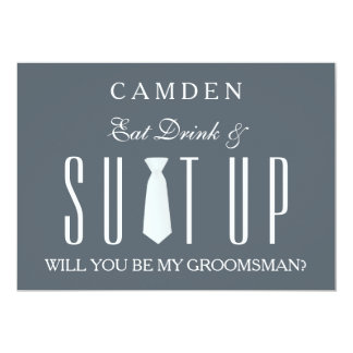 Suitup Will you be my groomsman 13 Cm X 18 Cm Invitation Card