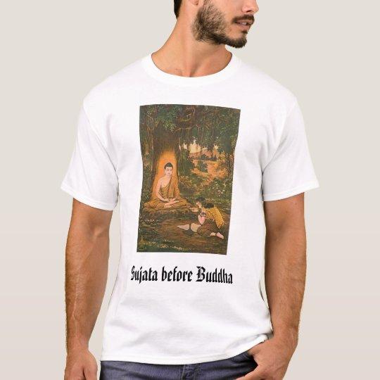 sujata-buddha, Sujata before Buddha T-Shirt