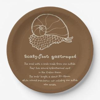 < sukerihutsuto (beige) > Scaly-foot gastropod Paper Plate