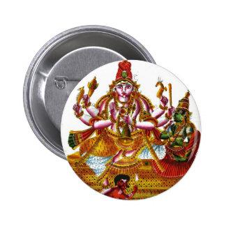 Sukhasana Shiva 6 Cm Round Badge