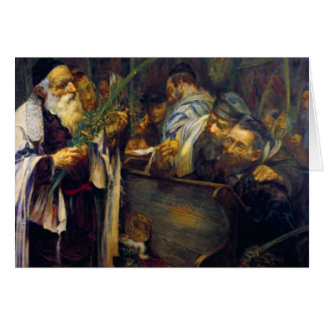 SUKKOT by Leopold Pilichowski - 1895 Greeting Card