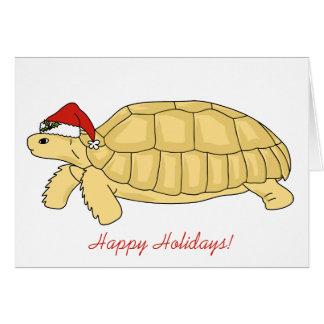 Sulcata Tortoise Christmas Card
