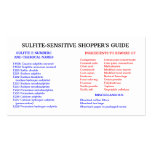 Sulfite-Free Shopper's Guide Pack Of Standard Business Cards