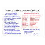 Sulfite-Free Shopper's Guide - Chubby Card