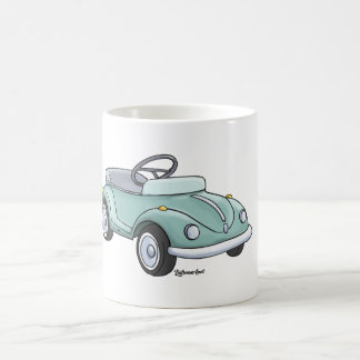 Sulk with pretty beetle blue coffee mug