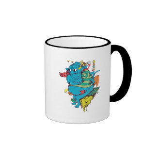 sulking monster with pals vector art 2 mug