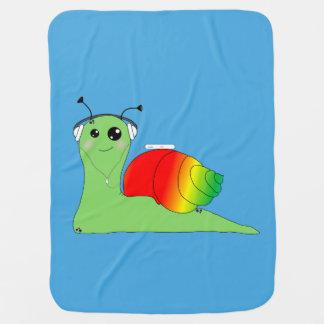 Sullivan la Snail loves music: Reggae Baby Blanket