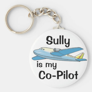 Sully Is My Co-Pilot Key Ring