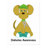 Sully the Diabetes Dog Post Cards - Grey
