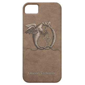 Sulphur and Mercury Leather Personalized Barely There iPhone 5 Case