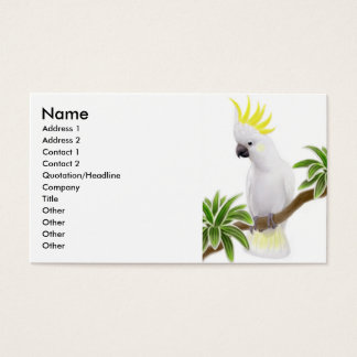 Sulphur Crested Cockatoo Business Card