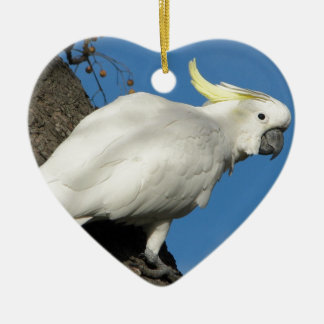 Sulphur crested cockatoo christmas ornament