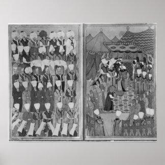 Sultan Ahmed III Distributing Money Poster