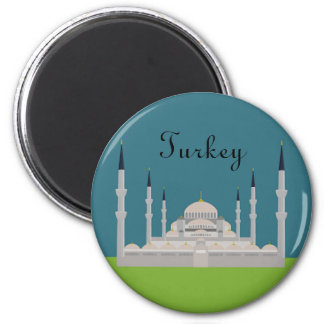 Sultan Ahmed Mosque 6 Cm Round Magnet