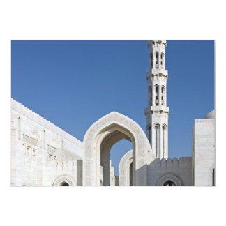 Sultan Qaboos Grand Mosque Muscat Sultanate Oman 13 Cm X 18 Cm Invitation Card