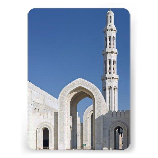 Sultan Qaboos Grand Mosque Muscat Sultanate Oman Custom Invites