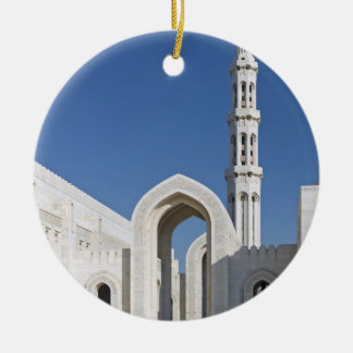 Sultan Qaboos Grand Mosque Muscat Sultanate Oman Round Ceramic Decoration