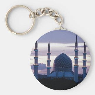 Sultan Salahuddin Abdul Aziz Mosque, Shah Alam, Se Basic Round Button Key Ring