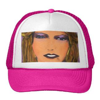 Sultry Woman Sketch Trucker Hats