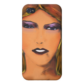 Sultry Woman Sketch iPhone 4/4S Case