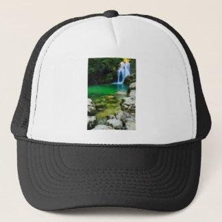 Sum Waterfall in Vintgar Gorge, near Bled, Sloveni Trucker Hat