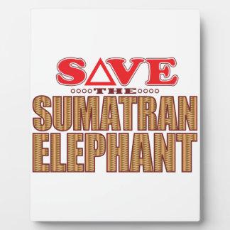 Sumatran Elephant Save Plaque