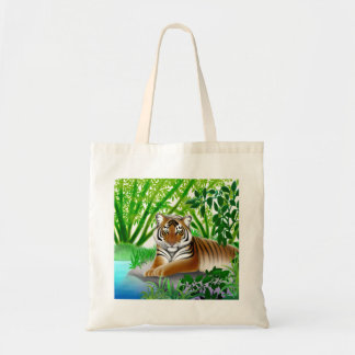 Sumatran Jungle Tiger Tote Bag
