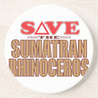 Sumatran Rhino Save Coaster