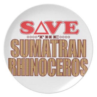 Sumatran Rhino Save Plate