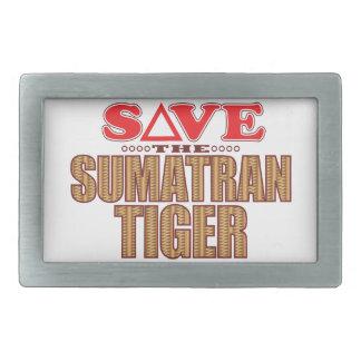 Sumatran Tiger Save Belt Buckles
