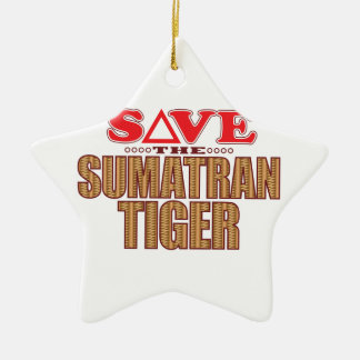 Sumatran Tiger Save Christmas Ornament