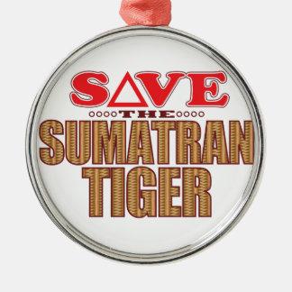 Sumatran Tiger Save Christmas Ornament
