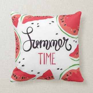 Sumer Time Watermelon Throw Pillow
