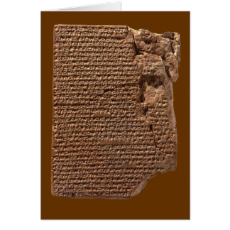 """Sumerian Cuneiform Writing"" Greeting Card"