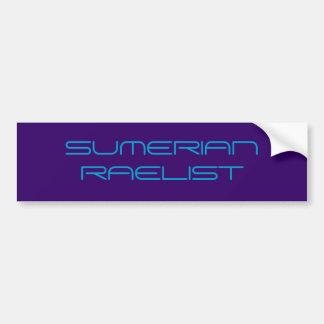 SUMERIAN RAELIST BUMPER STICKER