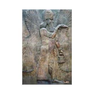 SUMERIAN TABLETS CANVAS DMT SPIRITUAL GRAFFITI CANVAS PRINTS