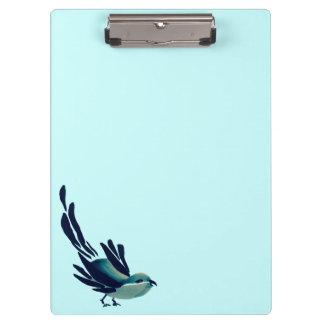 Sumi-e Bird Two-Tone Clipboard