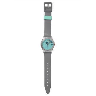 Sumi-e Turquoise Bird Watch