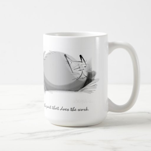 Sumi ink Zen Master cat Coffee Mug