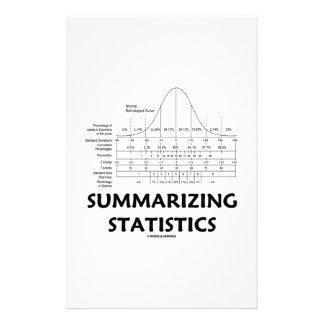 Summarizing Statistics (Bell Curve Distribution) Custom Stationery