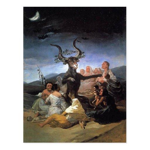 Summary Description Francisco Goya, le Sabbat des  Post Card